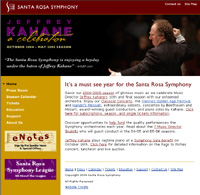 Santa Rosa Symphony - 2005 and 2006 season